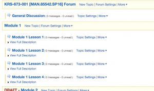 List of Forums posted on Laulima