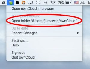 Open Folder option location